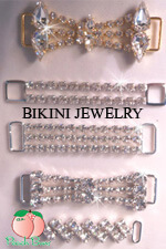GOLD-RHINESTONE BIKINI CONNECTORS